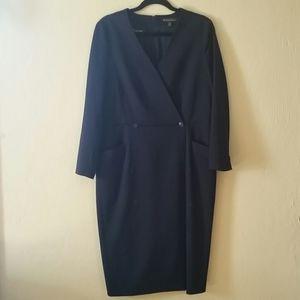 Brooks Brothers Long Sleeve Wool Career Dress